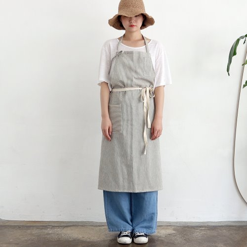 pin stripe apron