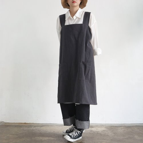 one piece apron _ chacoal gray