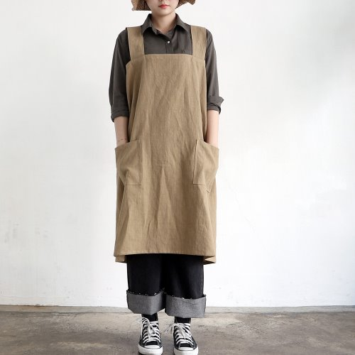 one piece apron _ beige