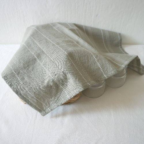 khaki stripe table mat