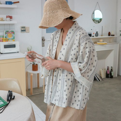 natural short robe