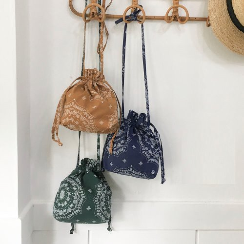 bandana string pouch _ 3 color